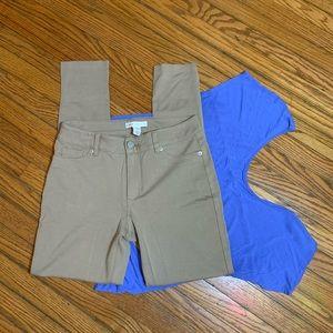 Cato Khaki Size 6 Skinny Jeggings